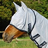 Bucas Fliegenmaske Buzz-Off Fly Mask - silver/blue, Groesse:100