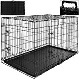 Hundetransportbox Hundebox Transportbox Transportkäfig Gitterbox 107 x 71 x 76,5cm Gr. XL