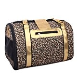 philna12 1pc Fashion Leopard Print Pet Carrier Hund Katze Tasche