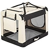 "TecTake Faltbare Hundetransportbox Transportbox beige 80x55x58cm ""XL"""
